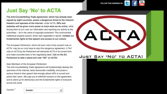Just Say 'No' to ACTA